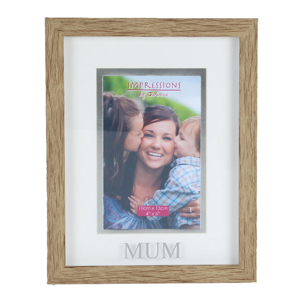 "Juliana Natural Wood Effect Plastic Frame - 6"" x 4"" Mum 