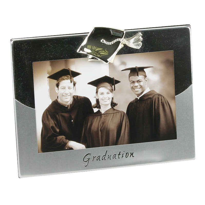 "2 tone Silverplated Frame - Graduation 4"" x 6"" 