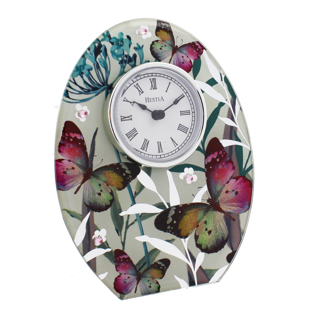 Hestia Butterfly Collection Mantel Clock | Presentimes