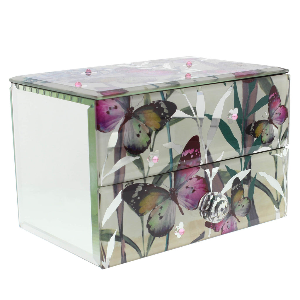 Hestia Butterfly Collection One Drawer Jewellery Box | Presentimes