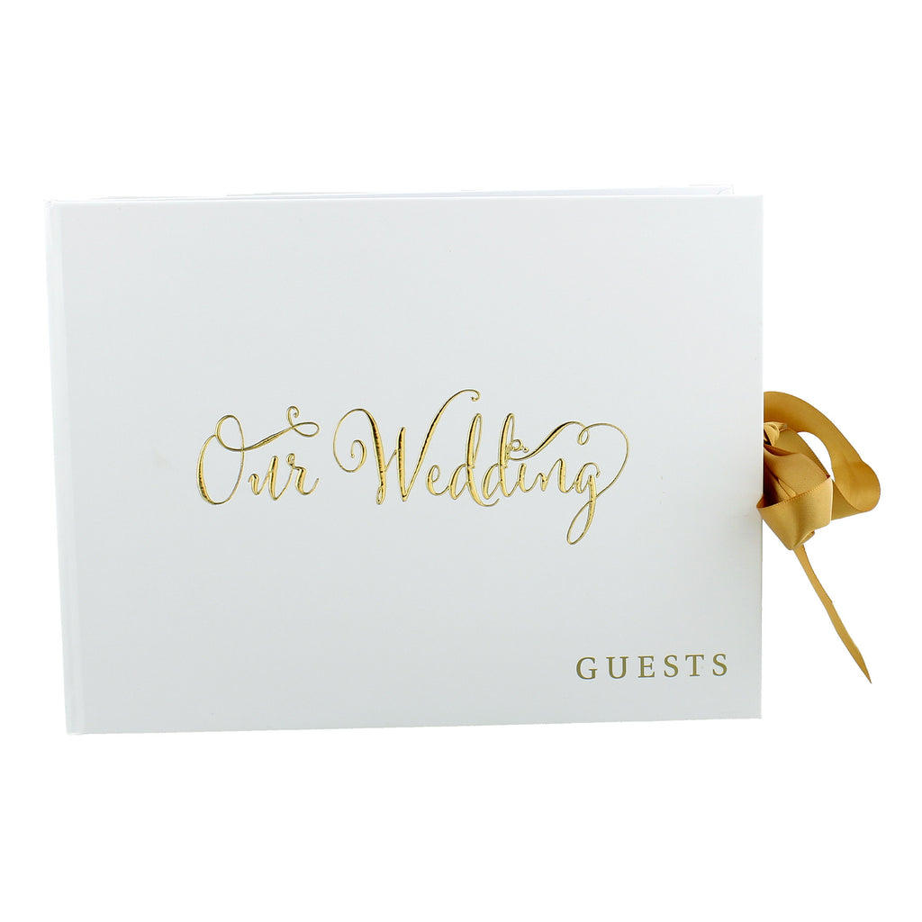 "Always & Forever' Gold Foil ""Our Wedding"" Guest Book 