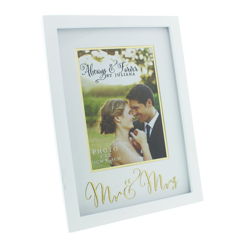 "Always & Forever MDF Frame with Gold Words 5"" x 7"" 