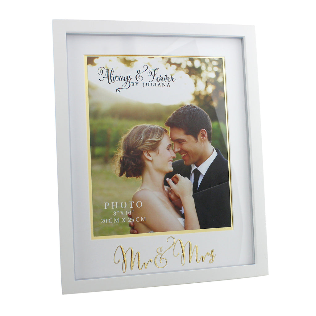 "Always & Forever MDF Frame with Gold Words 'Mr & Mrs' 8""x10"" 
