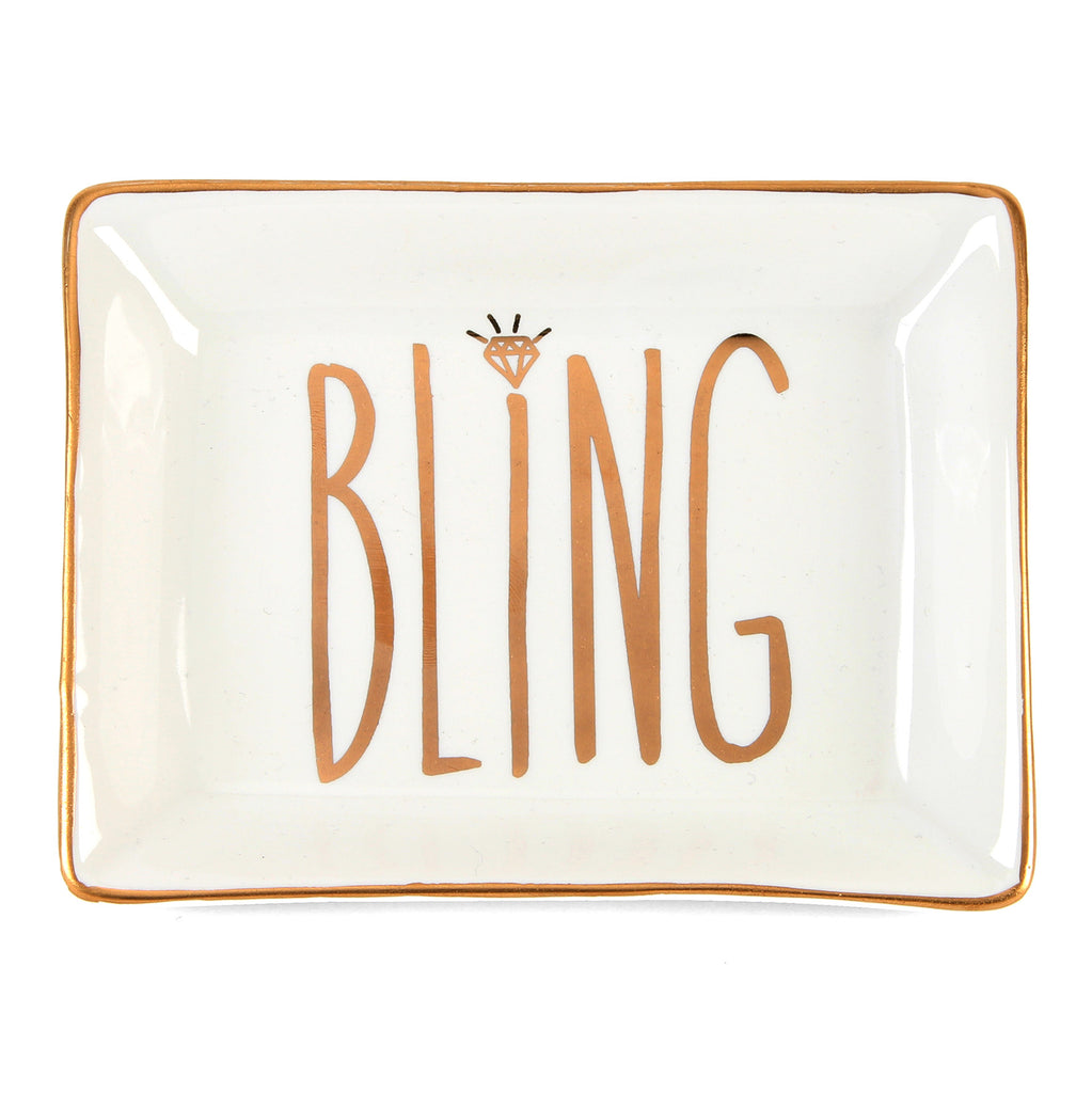 'Always & Forever' Ceramic Jewellery Tray 'Bling' | Presentimes