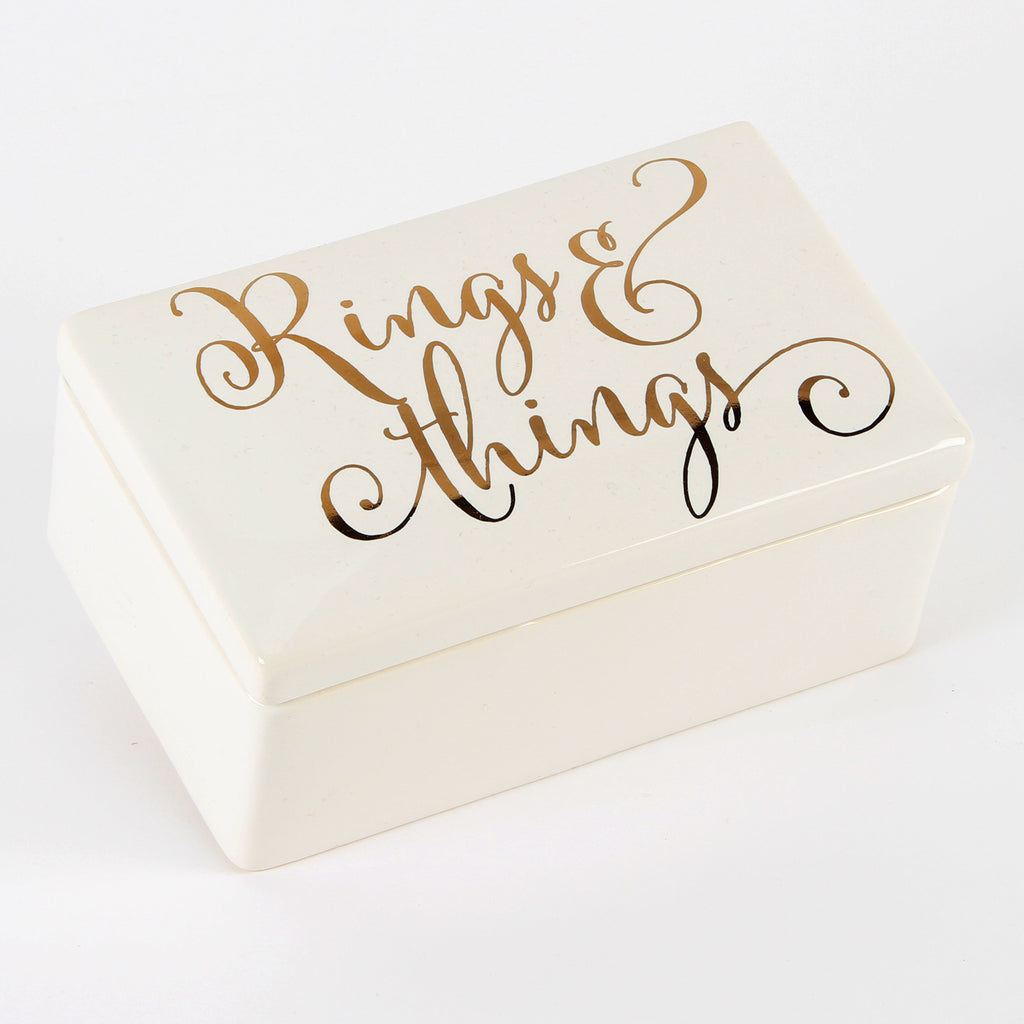 Always & Forever' Ceramic Jewellery Box 'Rings n Things' | Presentimes