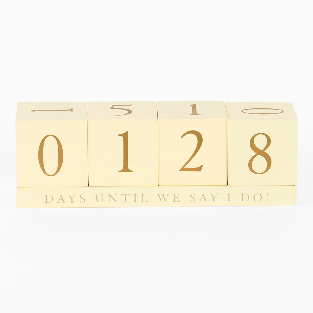 Amore MDF Countdown to Wedding Blocks | Presentimes