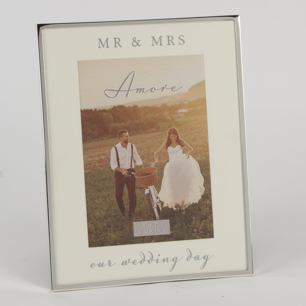 "Amore S/P Frame Mirror Print 5"" x 7"" - Our Wedding Day 