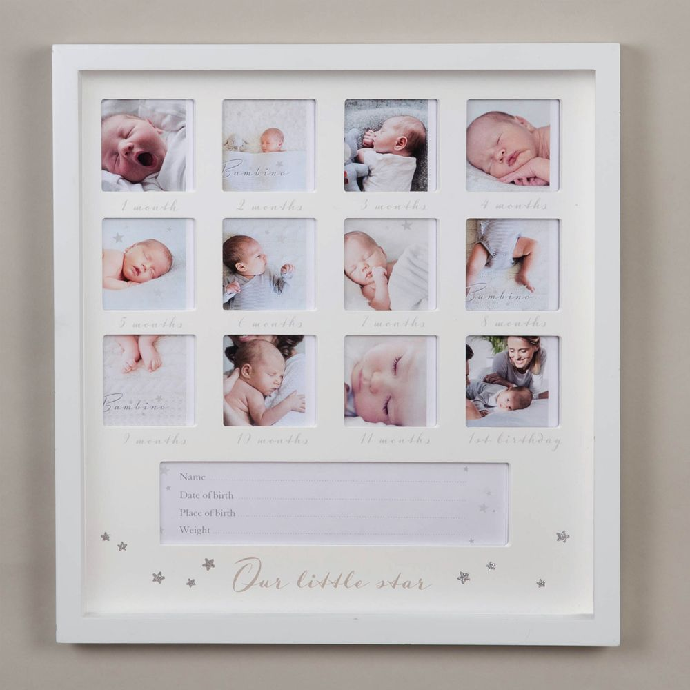 "2.5"" x 2.5"" - Bambino 1st Year Multi Frame - Little Star 