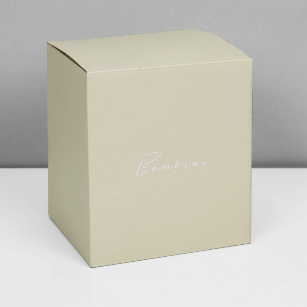 "2.5"" x 2.5"" - Bambino Silver Photo Money Box with Teddy Bear 