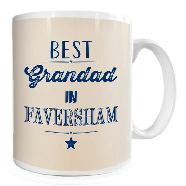 Best Grandad in Faversham Mug | Presentimes