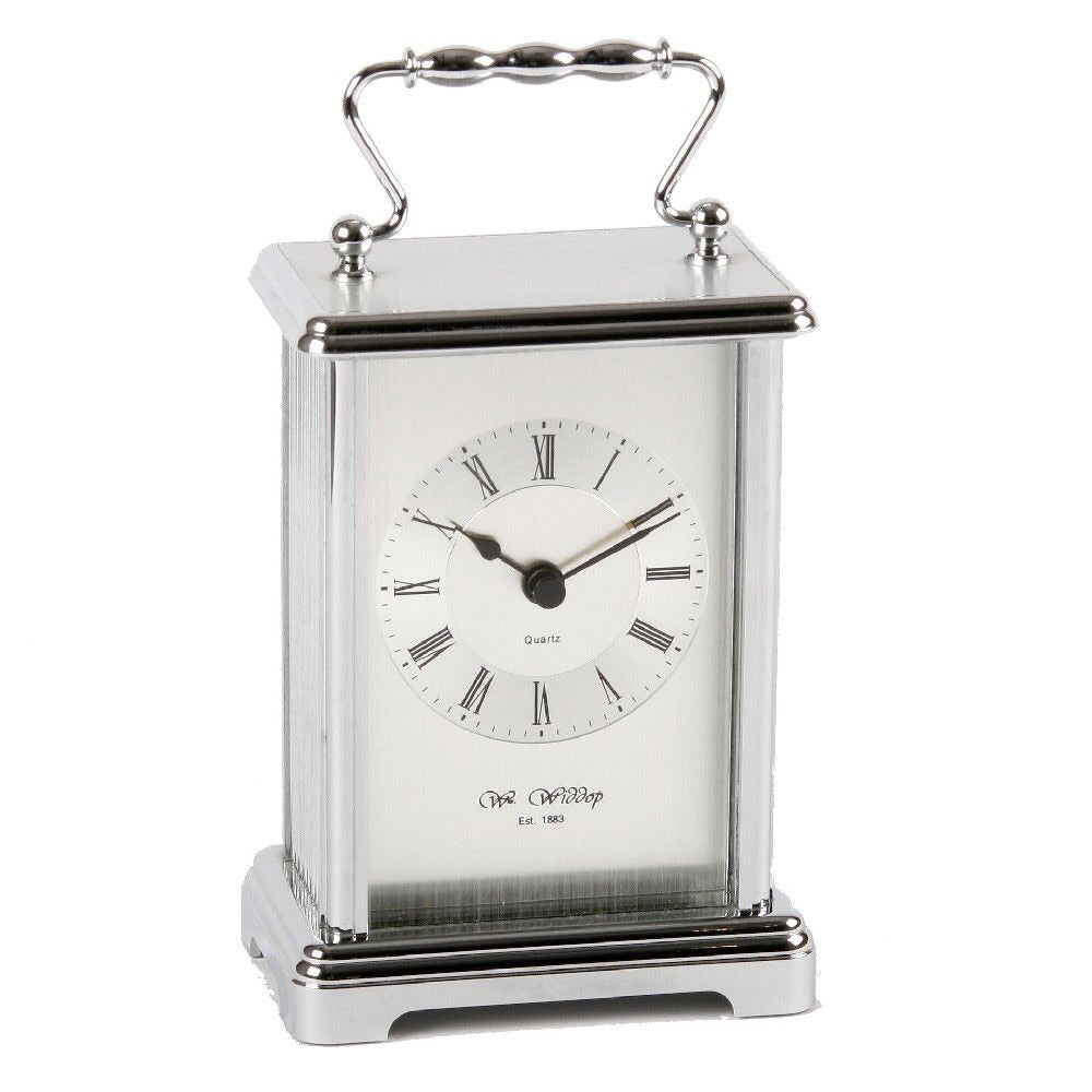 WILLIAM WIDDOP® Silver Carriage Clock | Presentimes