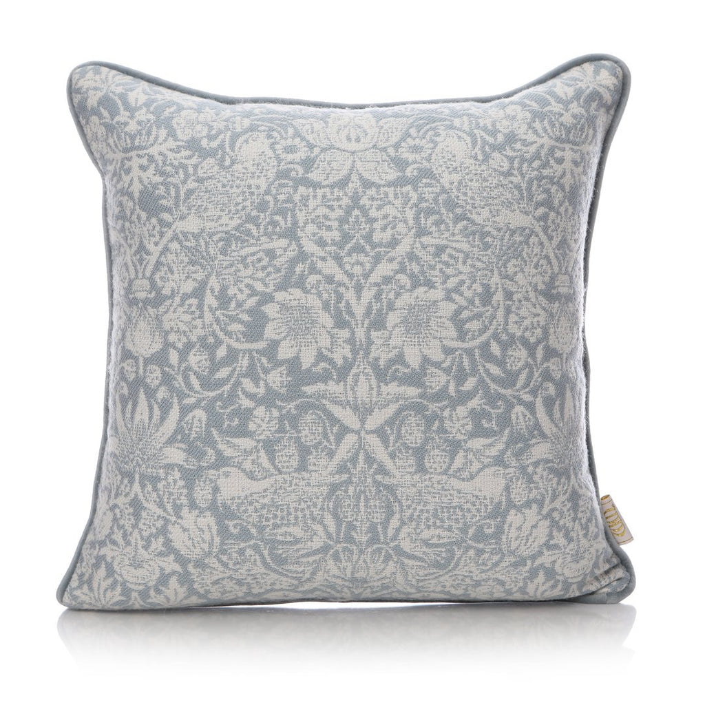William Morris Strawberry Thief Cushion Light Blue | Presentimes