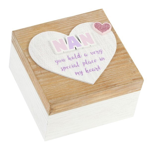 "Lasting Memories' MDF Keepsake Box ""Nan"" 