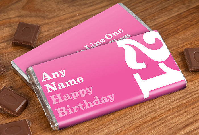 50 Personalised Chocolate Bars | Presentimes