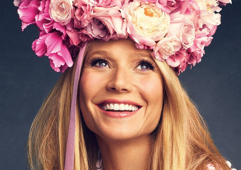 Gwenyth Paltrow with roses