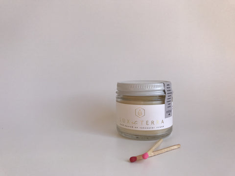 Lux et Terra Lust candle with Imbue Essential Oils