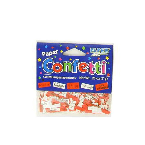 144 Packs of birthday paper confetti assorted sayings