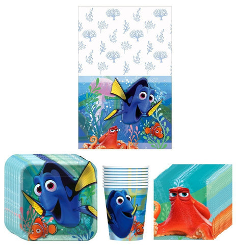 Disney Finding Dory Birthday Party Supplies Bundle Kit - 8 Guests