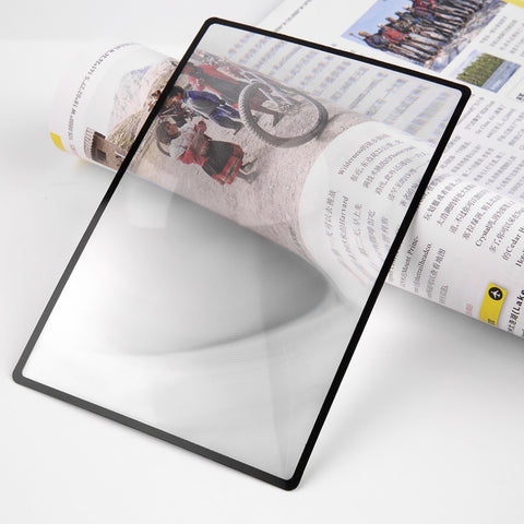 180X120mm travel kit Convinient A5 Flat PVC Magnifier Sheet X3 Book Page Magnification Magnifying Reading Glass Lens New