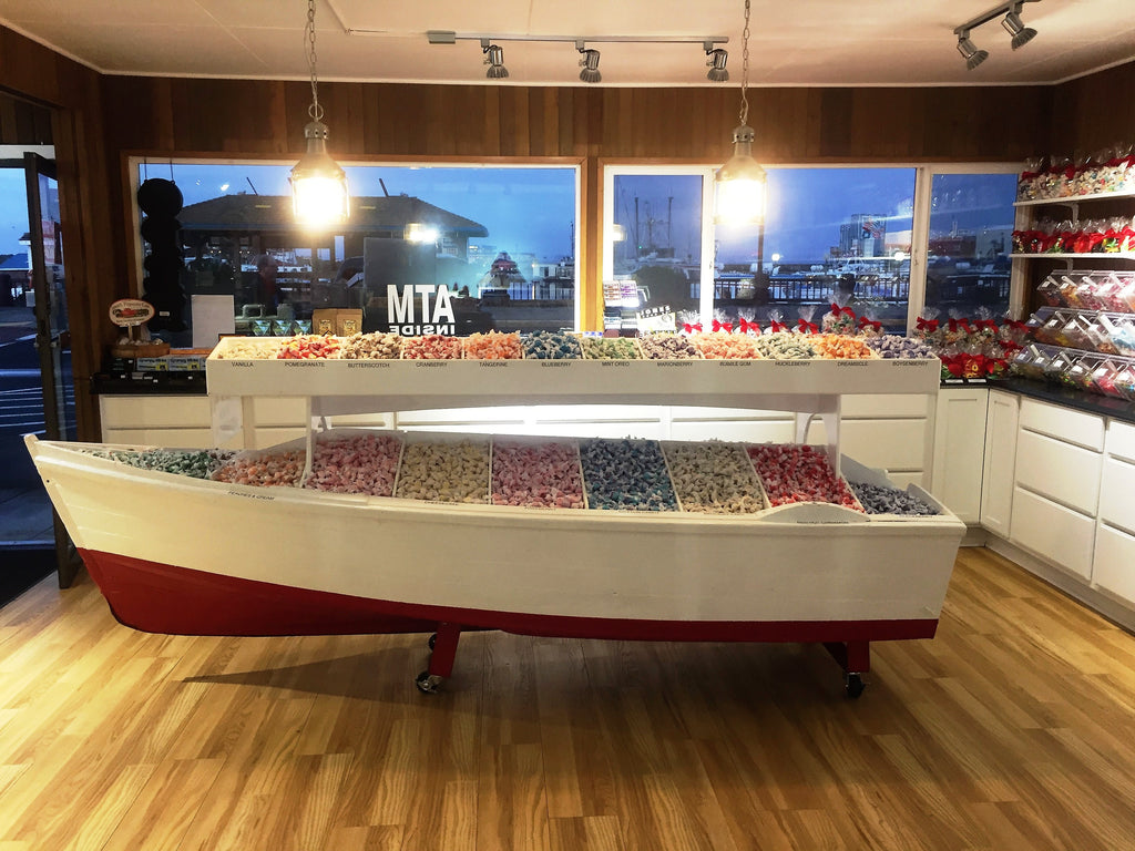 We have a boat FULL of salt water taffy - more than 50 flavors!