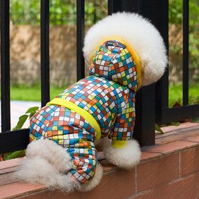 Multi-Colored Dog Hoodie Jacket