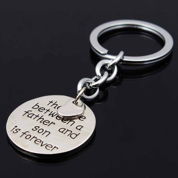 The Love Between A Father And Son Is Forever Keychain