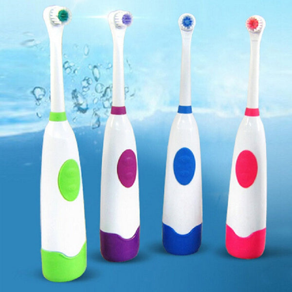 Waterproof Electric Toothbrush with 2 Brush Heads