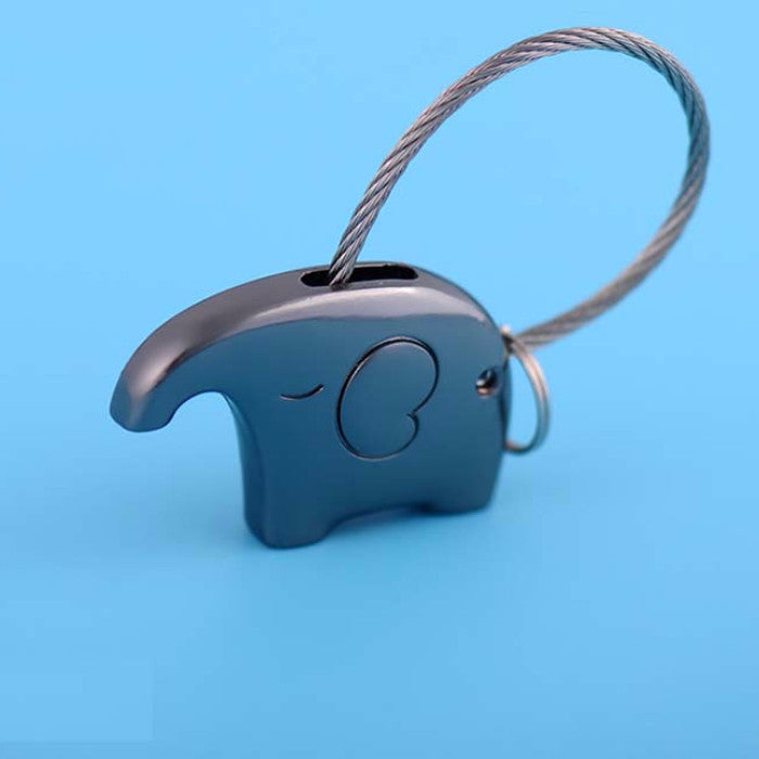 Cute Elephant Keychain Ring