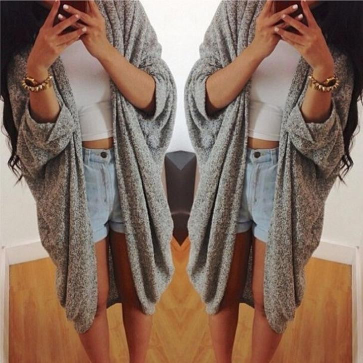 Loose Long Sleeve Woman's Cardigan