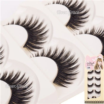 Natural Fake Eye Lashes (10 Pairs)