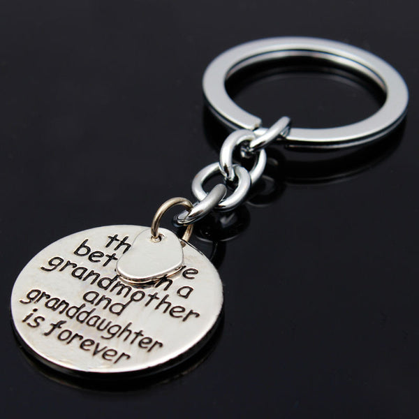 The Love Between A Grandmother And Granddaughter Is Forever Keychain