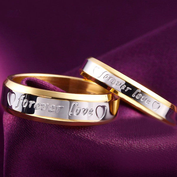 Forever Love Etched Ring