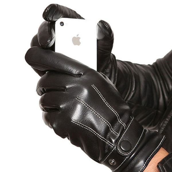 Driving Men's Leather Gloves Touch Screen iPad/iPhone