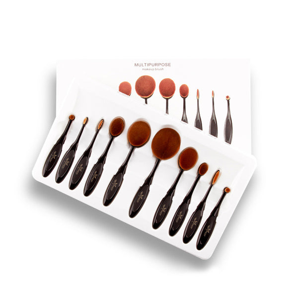 Oval Makeup Brush Set (5/10 Piece)