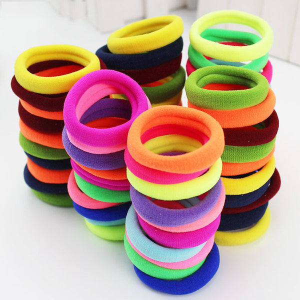 Flourescent Colored Elastic Hair Ties