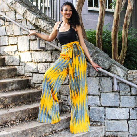 Ankara African Print High Waist Wide Leg Trousers