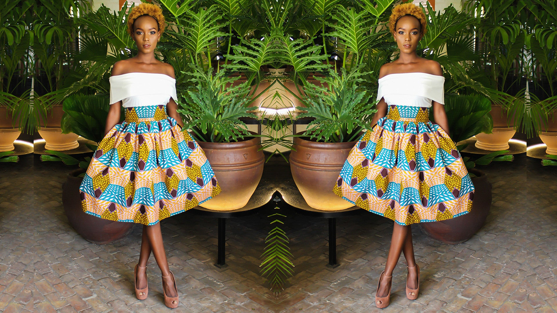 Ankara Shawl Dress