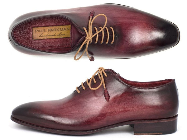whole cut plain toe burgundy oxford shoes