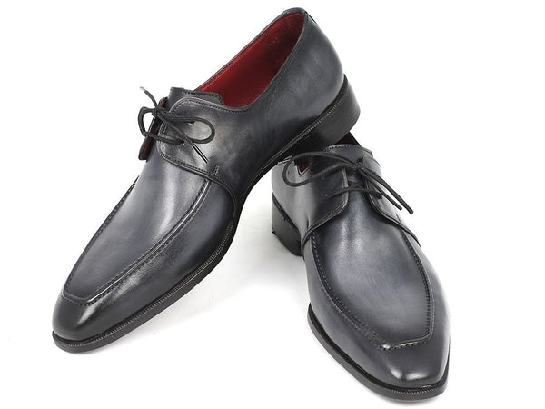 gray black derby shoes