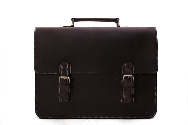 vintage leather mens briefcase bag