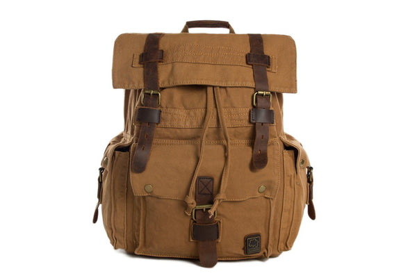 functional canvas backpacks for men