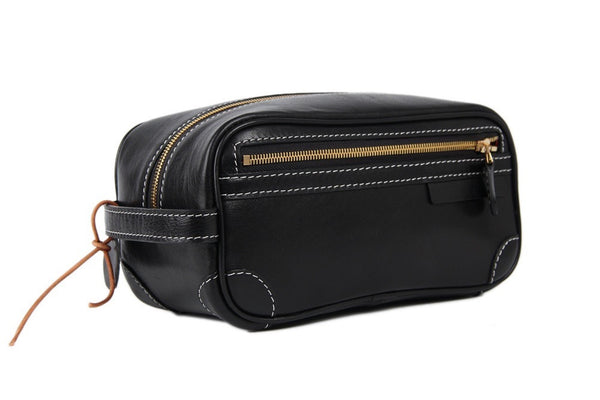 Italian leather dopp kit