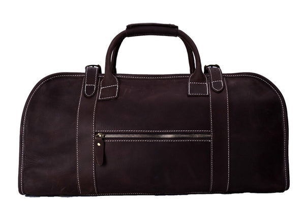 simple leather duffle bag