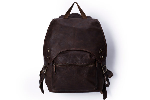 vintage leather backpack for men