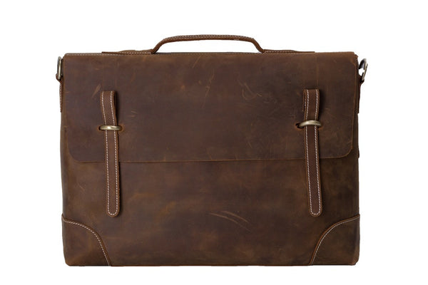 minimalist leather mens briefcase bag