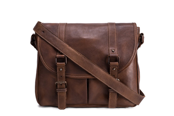 vintage brown satchels for men