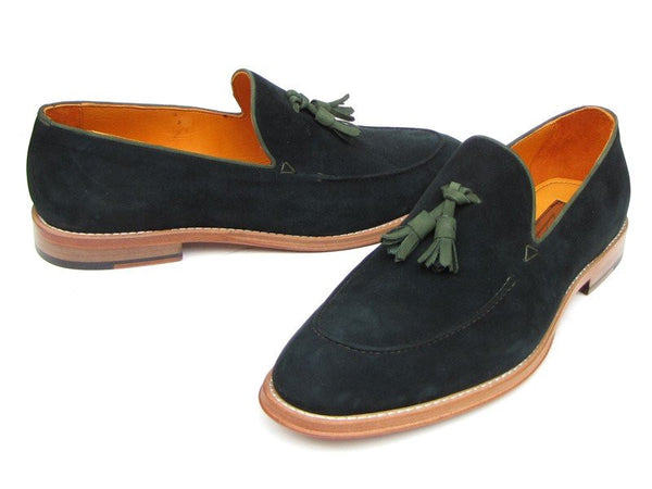 green mens loafers