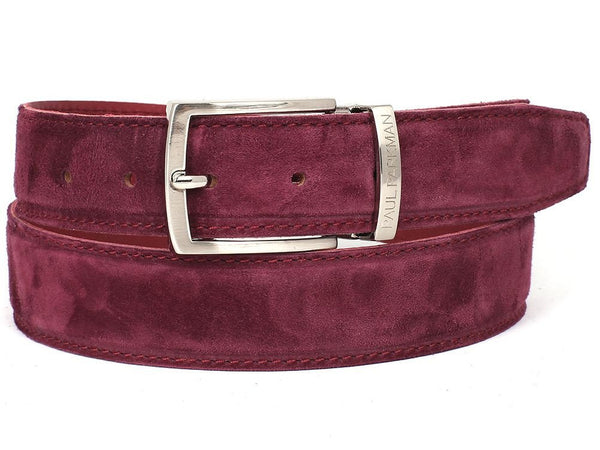 purple mens suede belt