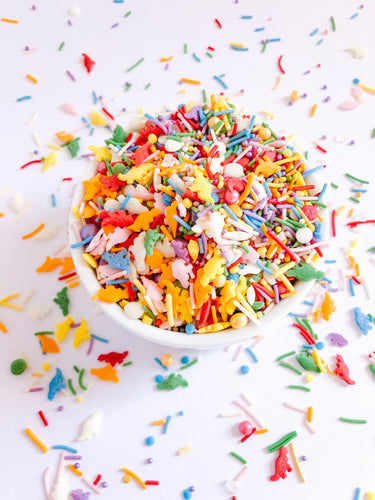 Dino Party Sprinkle Mix, Vegan and Gluten Free Sprinkles, Cupcake decorations