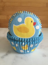 Rubber Ducky Cupcake Liners, Standard Sized, Baking Cups (50)